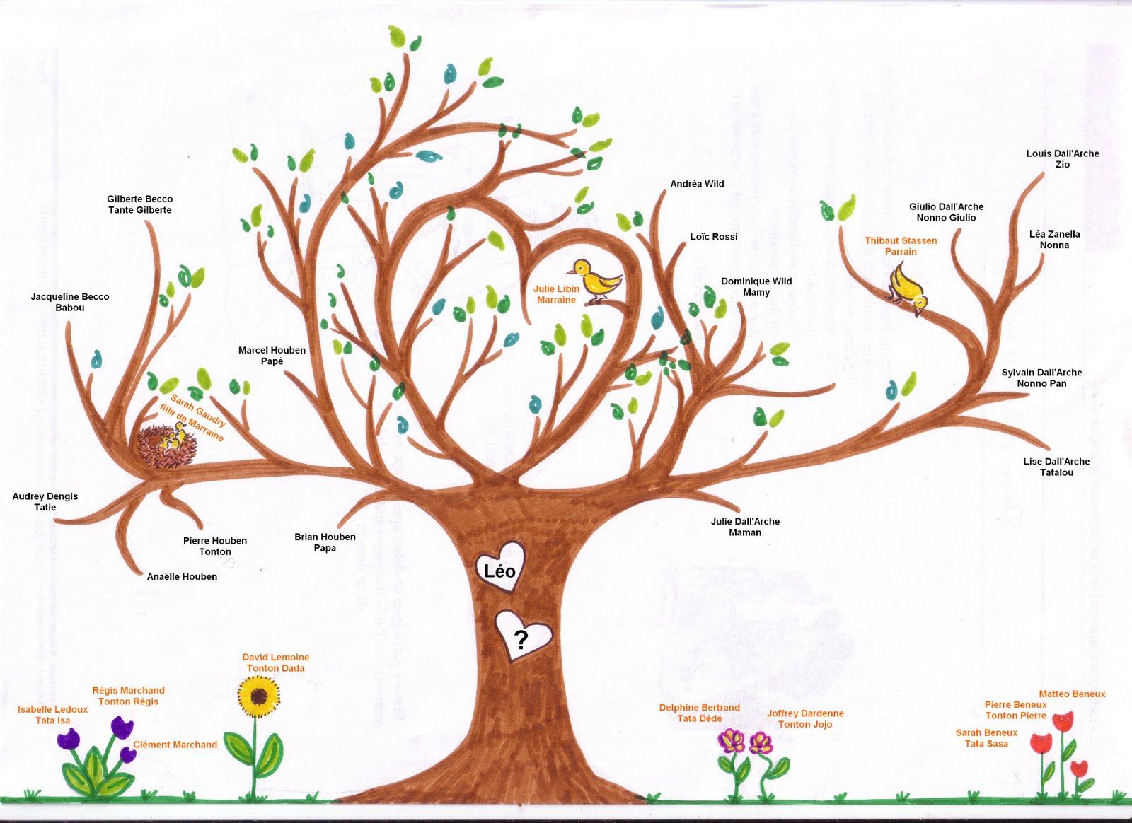 Comment faire son arbre g n alogique gratuit - Arbre genealogique dessin ...